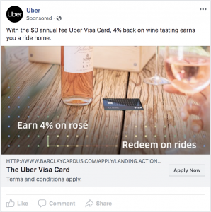 Uber Facebook Ad, Rose